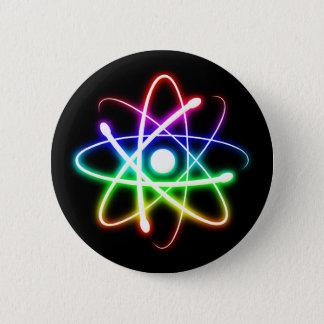 Bunte glühende Atom| Geek-coole Geschenke Runder Button 5,7 Cm