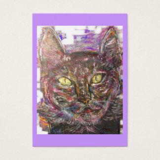 bunte griechische Katze Visitenkarte