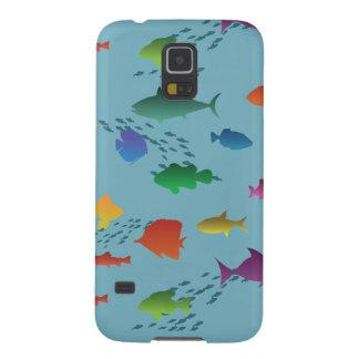 Bunte Gruppe Fische Unterwasser Samsung Galaxy S5 Hülle