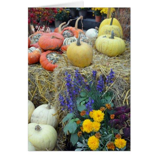 Bunte Herbsternte-Erntedankkarte Karte
