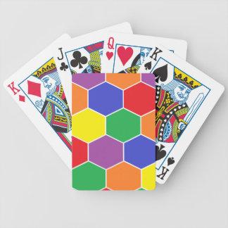 """""""Bunte Hexagon-"""" Spielkarten"""