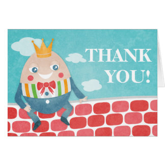 Bunte Humpty Dumpty Babyparty danken Ihnen zu Karte