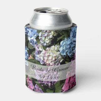 Bunte Hydrangea-Blumen-Gastgeschenk Hochzeit Dosenkühler