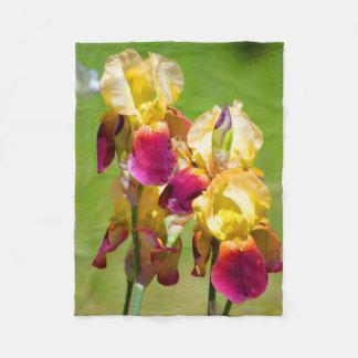 Bunte Iris-Decke Fleecedecke