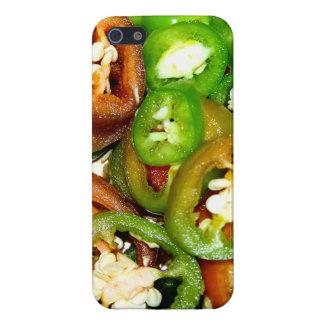 Bunte Jalapeno-Pfeffer-Scheiben iPhone 5 Etuis