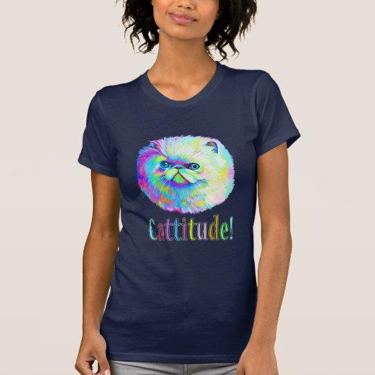 Bunte Katze mit Catitude T-Shirt