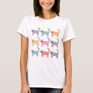 Bunte Katzen T-Shirt