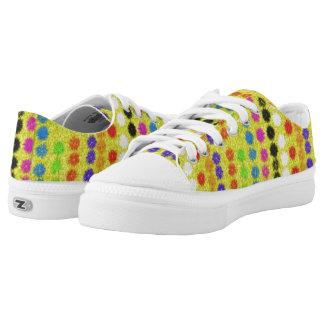 Bunte kleine Punkte Niedrig-geschnittene Sneaker