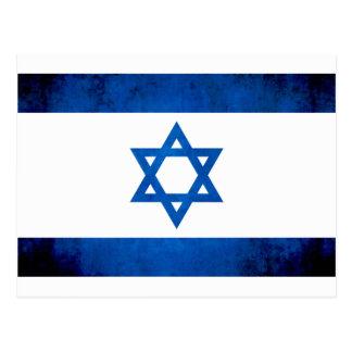 Bunte Kontrast-Israeli-Flagge Postkarte