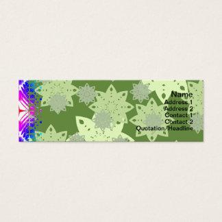 Bunte Kräuselungs-großes transparentes Mini Visitenkarte