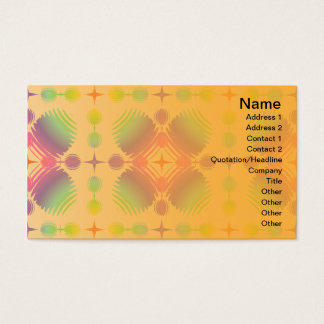 Bunte Kräuselungs-großes transparentes Visitenkarte