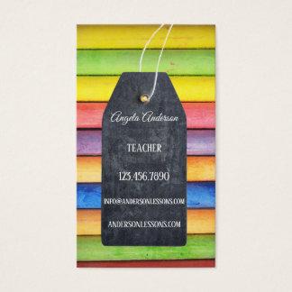 Bunte Kreide-Tafel-Lehrer-Visitenkarte Visitenkarte