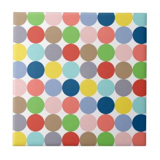 bunte Kreise der Farbe im Pastell Fliese