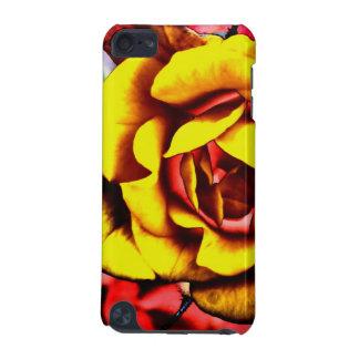 Bunte künstlerische gelbe Rose iPod Touch 5G Hülle