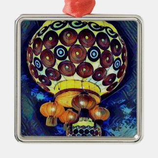 Bunte künstlerische japanische Laterne Quadratisches Silberfarbenes Ornament