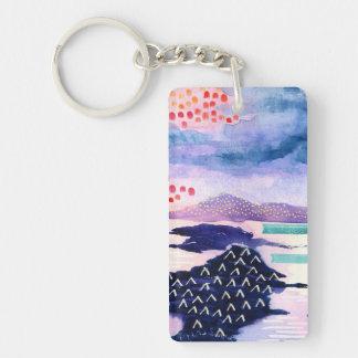 Bunte künstlerische Wasserfarbe-malende Schlüsselanhänger