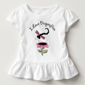 Bunte Libellen gekräuseltes T-Stück Kleinkind T-shirt