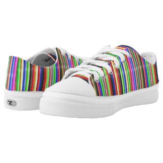 bunte Linie Muster Niedrig-geschnittene Sneaker