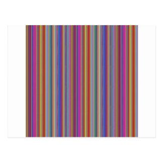 Bunte Linien Streifen graphi der kreativen Postkarte