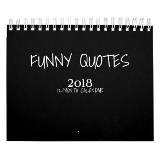 Bunte lustige kleiner Kalender der Zitat-2018