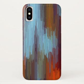 Bunte Malerei-abstrakter Hintergrund #2 iPhone X Hülle