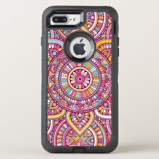 Bunte Mandala OtterBox Defender iPhone 7 Plus Hülle