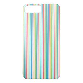 Bunte nahtlose gestreifte Linie Muster iPhone 8 Plus/7 Plus Hülle
