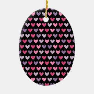 Bunte niedliche Herzen Keramik Ornament