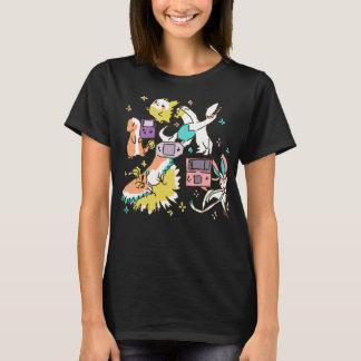 Bunte nostalgische Explosion T-Shirt