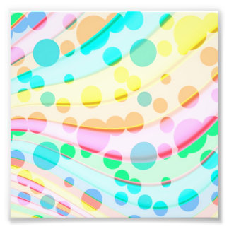 Bunte Pastellpunkte und Wellen-Muster Fotodruck