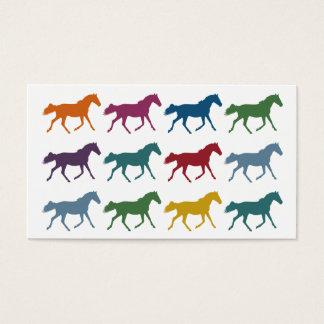 Bunte PferdeVisitenkarten Visitenkarte