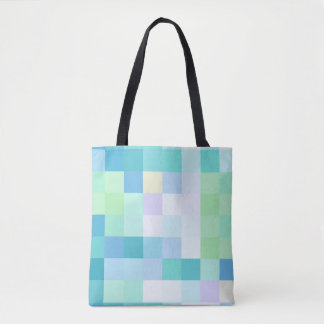 Bunte Pixellated blaue Ozean-Taschen-Tasche Tasche