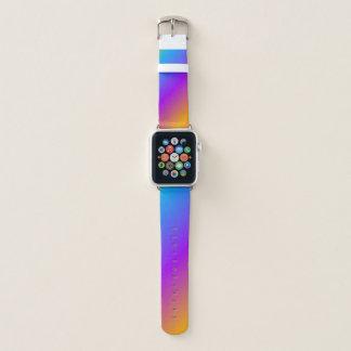 Bunte Regenbogen-Neon-Steigung Apple Watch Armband