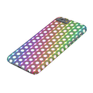 Bunte Retro Kreise Barely There iPhone 6 Hülle