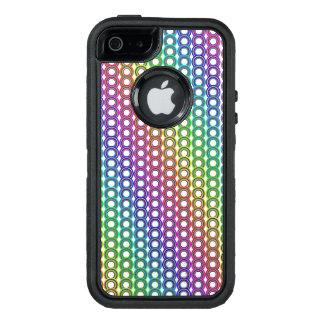 Bunte Retro Kreise OtterBox iPhone 5/5s/SE Hülle
