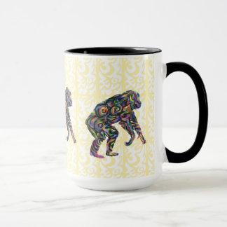 Bunte Schimpanse-Tasse Tasse