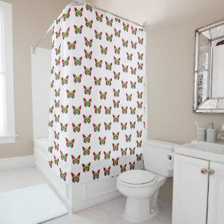 Bunte Schmetterlinge Duschvorhang