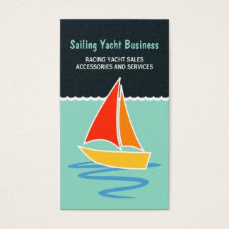 Bunte Segel-Yacht-Segelboot-Vertikale-Bootfahrt Visitenkarte