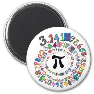 Bunte Spirale von PU berechnet Runder Magnet 5,1 Cm