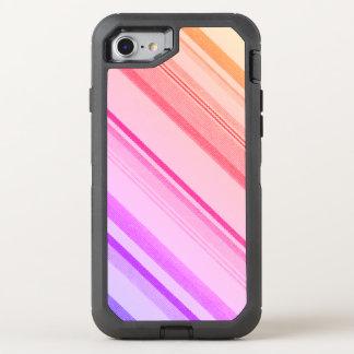 Bunte Streifen-Linien OtterBox Defender iPhone 7 Hülle