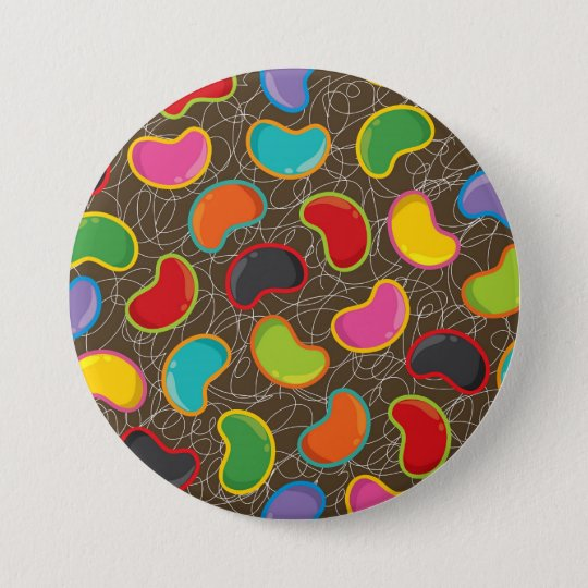 Bunte Süßigkeits-Retro Geleebonbon-Pop-Knopf Runder Button 7,6 Cm