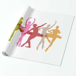 Bunte Tanzen-Ballerinen Geschenkpapier