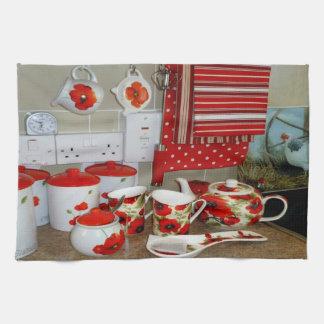 Bunte Tassen und Kanister-Set-Küchen-Tuch-Dekor Geschirrtuch