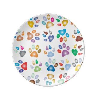 Bunte Tiertatzen, kundenspezifische Platte Porzellanteller