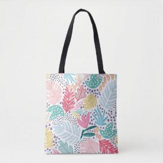 Bunte tropische Collagen-gemusterte Taschen-Tasche Tasche
