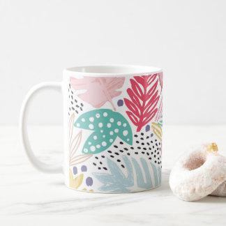 Bunte tropische Collagen-Weiß-Tasse Tasse