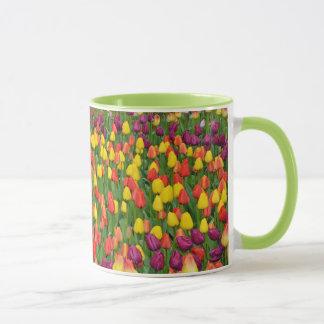 Bunte Tulpemuster-Kaffee-Tasse Tasse