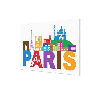 Bunte Typografie Paris, Frankreich   Leinwanddruck