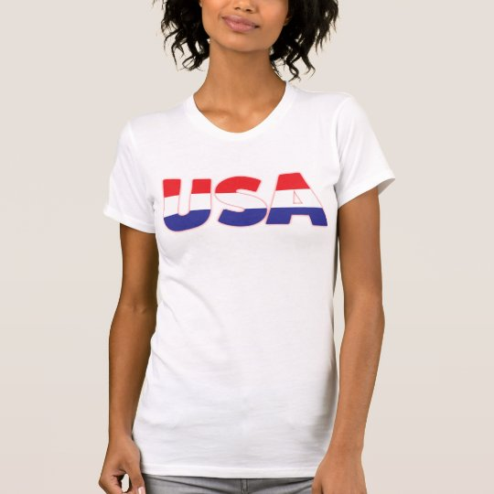 Bunte USA T-Shirt