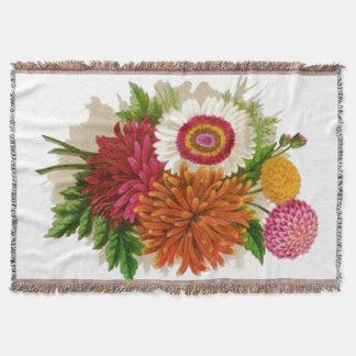 Bunte Vintage Chrysanthemen afghanisch Decke